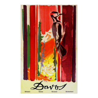 Davos Switzerland Vintage Travel Poster
