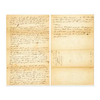 Davy Crockett's West Point Resolution 1830 Canvas Print