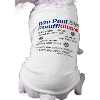 Dawgz 4 Ron Paul 2012 Dog T-shirt