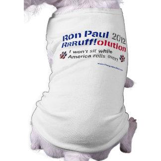 Dawgz 4 Ron Paul Dog T-shirt: America Rolls Over Shirt