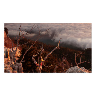 Dawn Ai-Petri Yaila nature reserve, Alupka Russia Business Card