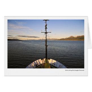 Dawn along the Beagle Channel Card