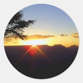 Dawn at Grand Canyon Round Sticker