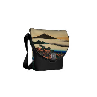 Dawn at Isawa in Kai Province Courier Bags