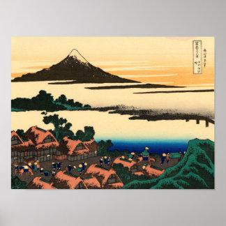 Dawn at Isawa in Kai Province Poster