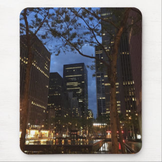 Dawn at Rockefeller Center NYC Architecture Lights Mouse Pad