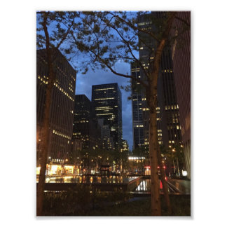 Dawn at Rockefeller Center NYC Architecture Lights Photo Print