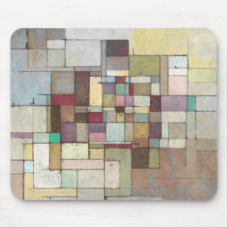 Dawn Beach Lattice Abstract Painting Mouse Pad
