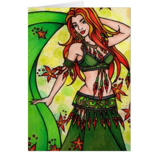 Dawn Belly Dancer Card