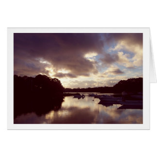 Dawn Comes to Meetinghouse Pond Card