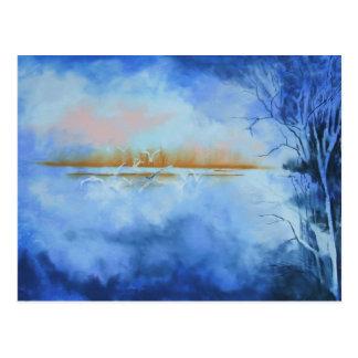 Dawn Flight Abstract postcard