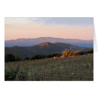 Dawn from Atlas Peak, Napa Valley, 1 Card