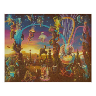 Dawn in the Garden of Creation Poster