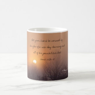 dawn mist, Let your heart be warmed by the glow... Coffee Mug