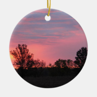 Dawn on the Family Farm Ceramic Ornament