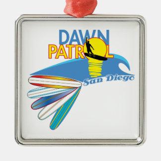 Dawn Patrol San Diego Metal Ornament