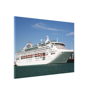 Dawn Princess Cruise Ship Canvas Print