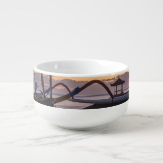 Dawn, Sanur, Bali, Indonesia Soup Mug