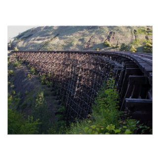 Dawn Sun, Bridge 22, Camas Prairie Railroad Poster
