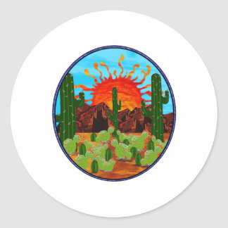 DAWNING DAY CLASSIC ROUND STICKER