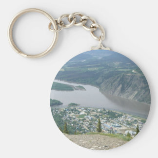 Dawson City, Yukon Basic Round Button Key Ring