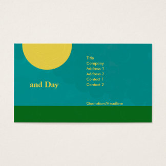 Day and night business card