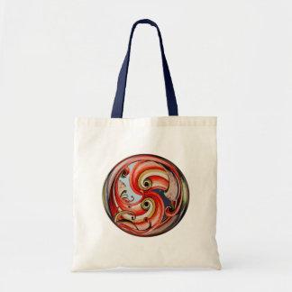 Day and Night Ribbon Circle Tote Bags