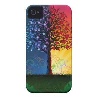 Day And Night Tree iPhone 4 Case-Mate Cases