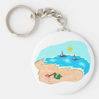 Day at the Beach Key Ring