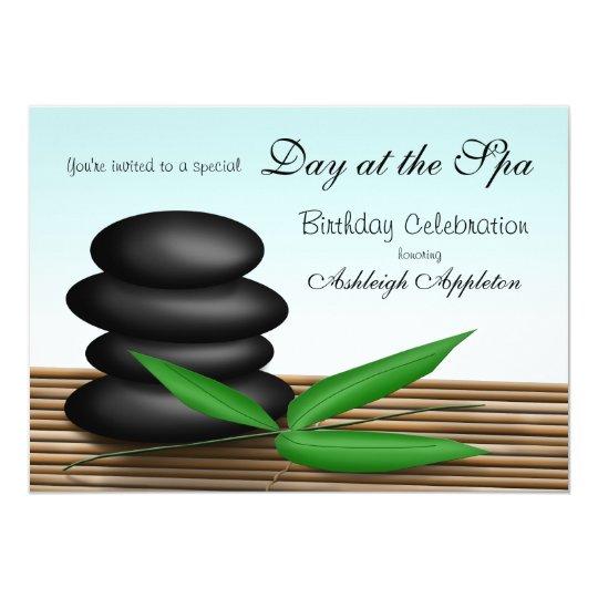 """Day at the Spa"" Birthday Celebration Invitations"
