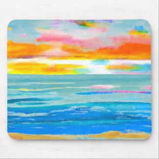 Day Breezes Sunrise Beach Surf Ocean Sunset Mouse Pads