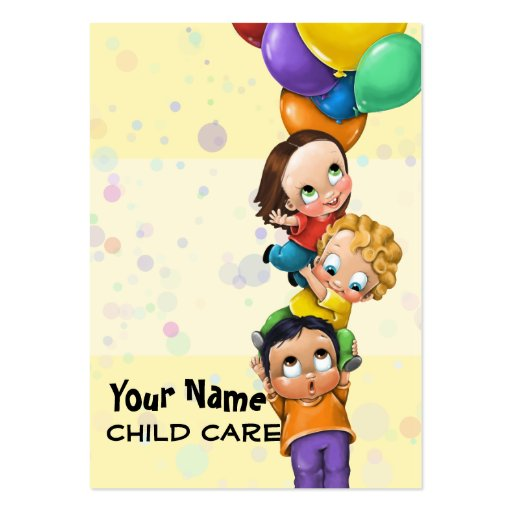 Day Care. Child Care. Babysitting. Promo card Business Cards