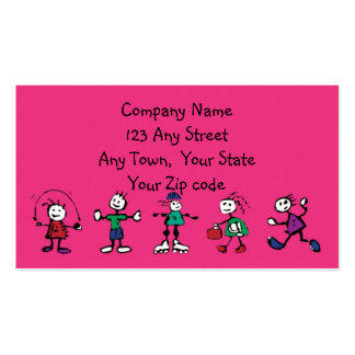 day care,child care, teacher or  babysitting business card templates