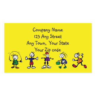 day care,child care, teacher or  babysitting pack of standard business cards
