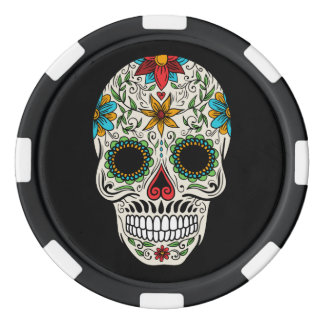 Day Dead Sugar Skull Poker Chips