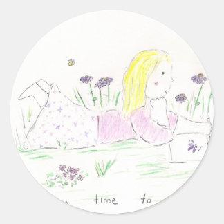 Day Dreaming Round Sticker