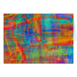 Day Glo Cathedral Greeting Card