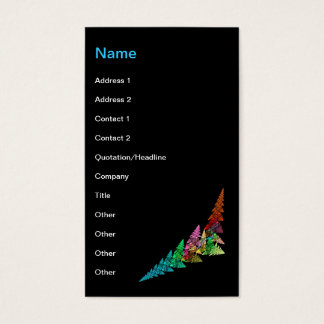 Day Glo Forest Business Card