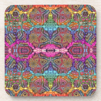 Day-Glo Pattern Drench Drink Coasters