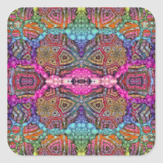 Day-Glo Pattern Drench Square Sticker
