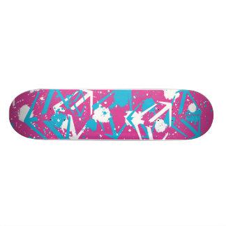 Day Glo Pink Custom Skateboard