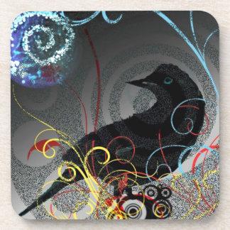 Day Glo Raven Coasters