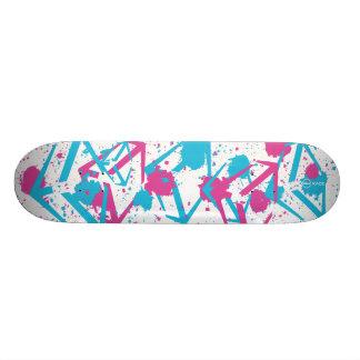 Day Glo Custom Skate Board