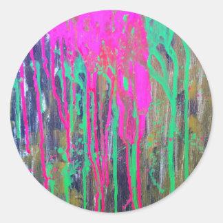 day glo sludge by SLUDGEart Round Sticker