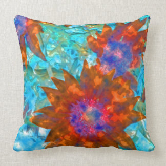 Day-Glo Sunflowers Throw Pillow
