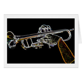 Day Glow Trumpet Card
