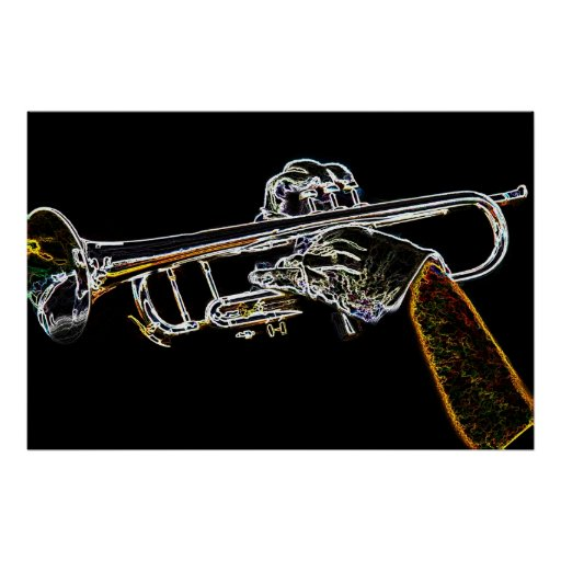 Day Glow Trumpet Print