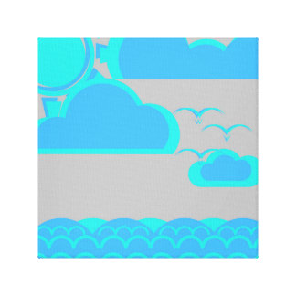 Day in the ocean canvas print