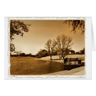 day in the park (in golden tones) card
