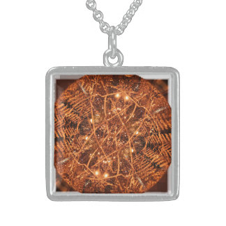"""Day Light"", Sterling Silver Square Necklace"